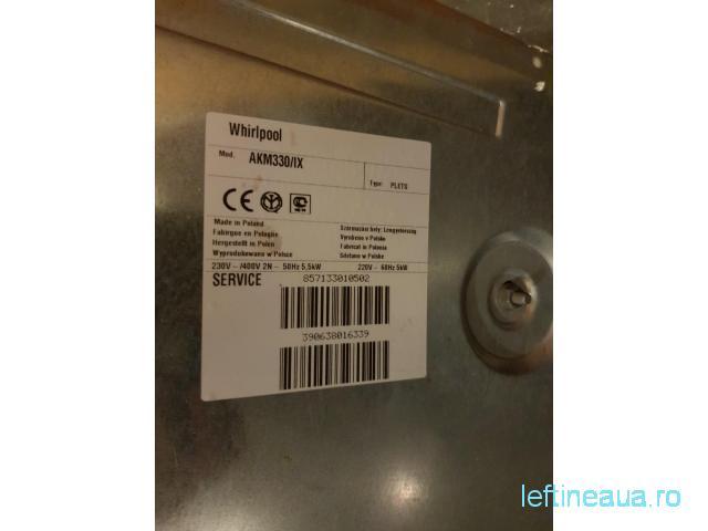 Plita electrica inox Whirlpool 220 - 380v / 5.5 kW / AKM 330 IX - 3/3