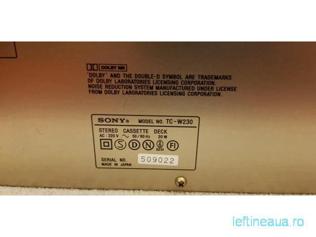 Deck Sony TC-W230 / Made in Japan / se vinde ca defect - 6/6